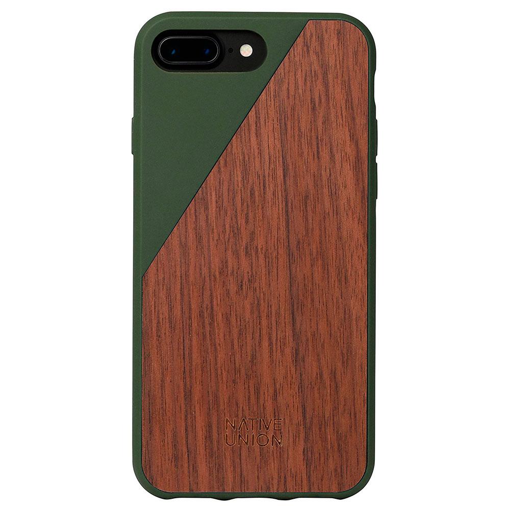 Купить Деревянный чехол Native Union CLIC Wooden Olive | Walnut для iPhone 7 Plus | 8 Plus
