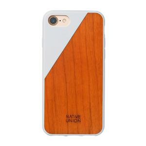 Купить Деревянный чехол Native Union CLIC Wooden White/Cherry для iPhone 7/8