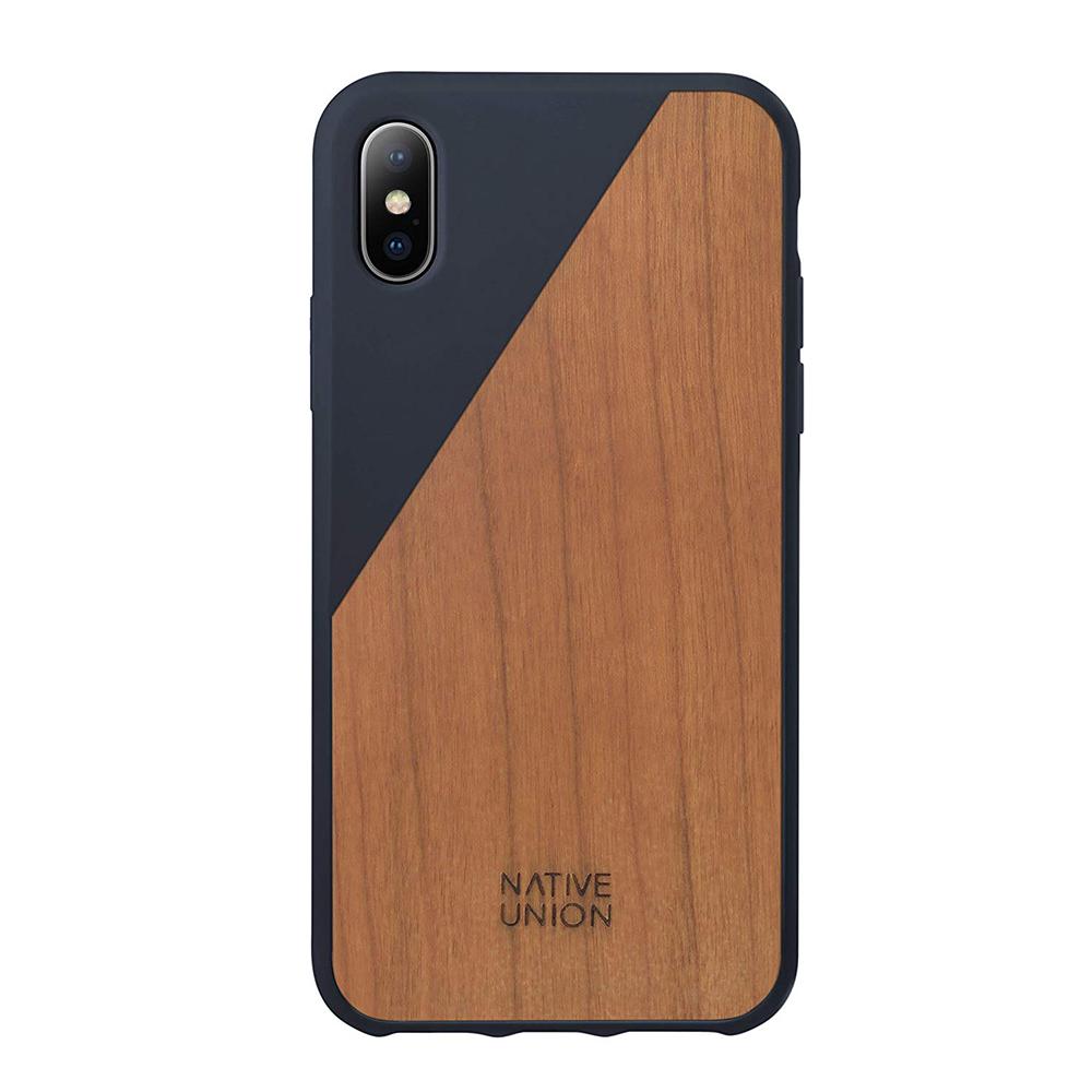 Купить Деревянный чехол Native Union CLIC Wooden Marine | Cherry Wood для iPhone X | XS