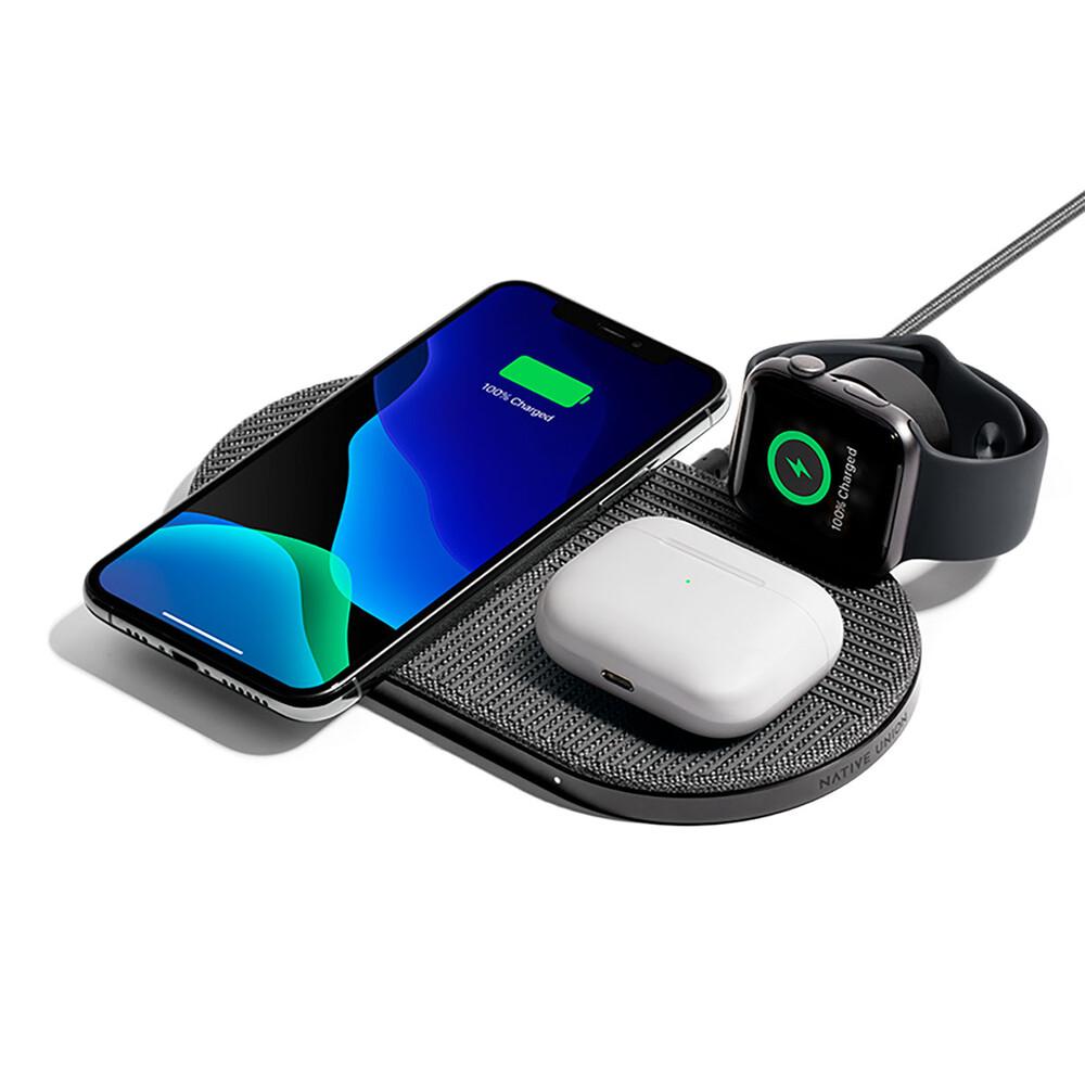 Купить Беспроводная зарядка 3 в 1 для iPhone | Apple Watch | AirPods Native Union Drop XL (Watch Edition)