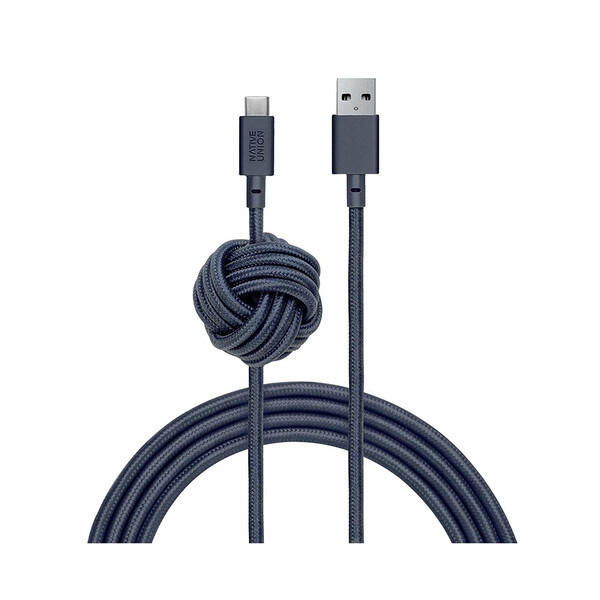 Зарядный кабель Native Union Night Cable USB-A to USB-C Indigo 3m