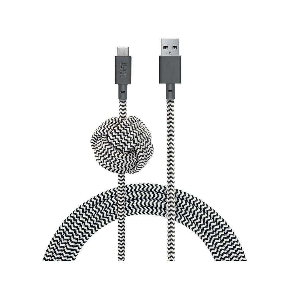Купить Зарядный кабель Native Union Night Cable USB-A to USB-C Zebra 3m