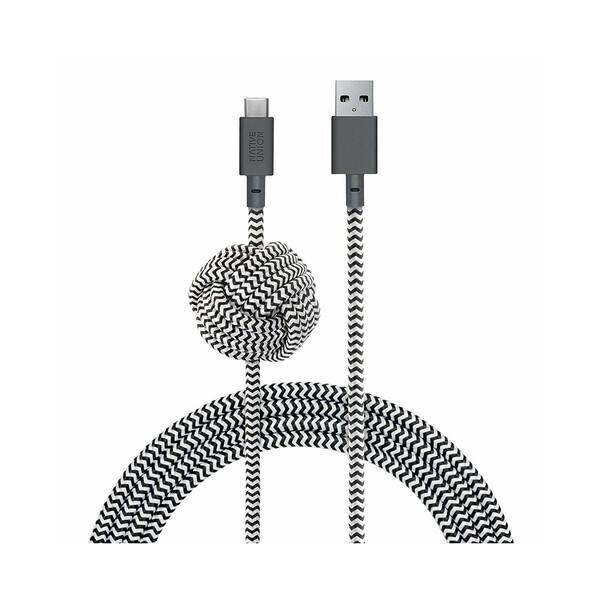 Зарядный кабель Native Union Night Cable USB-A to USB-C Zebra 3m