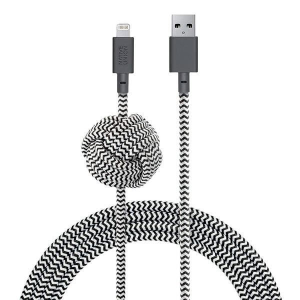 Кабель Native Union Night Cable Zebra Lightning to USB 3m