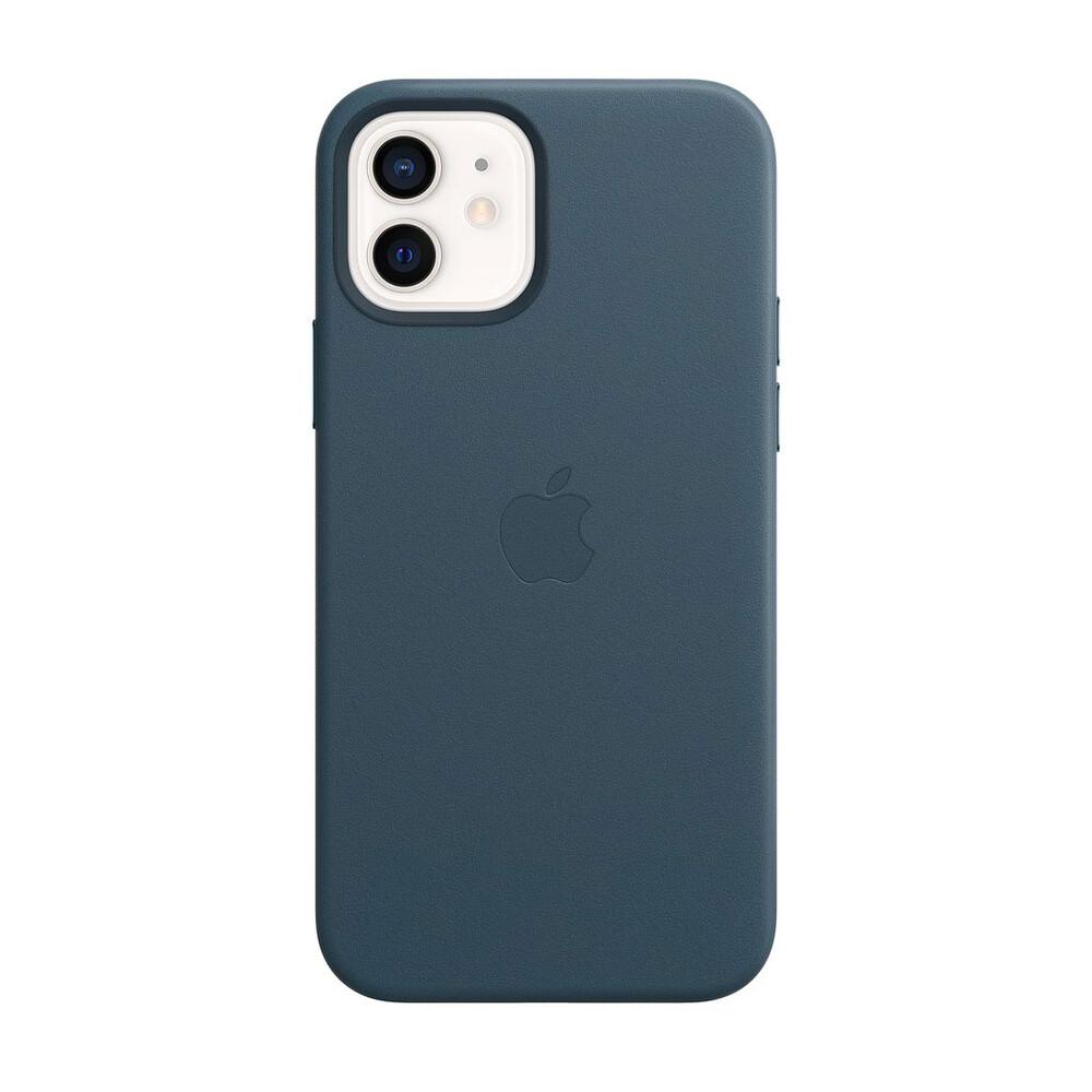 Кожаный чехол iLoungeMax Leather Case MagSafe Baltic Blue для iPhone 12 mini OEM (с поддержкой анимации)
