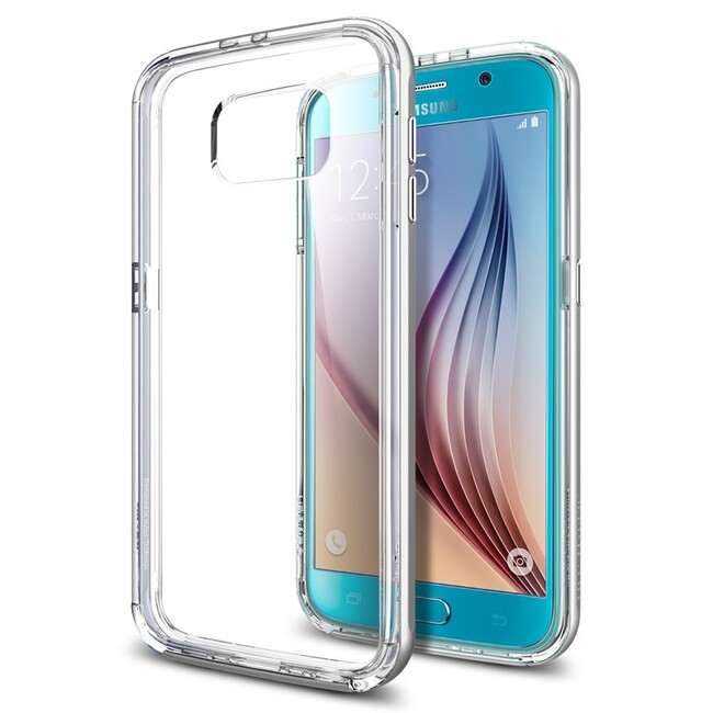 Чехол Spigen Neo Hybrid CC Satin Silver для Samsung Galaxy S6