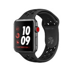 Ремешок oneLounge Nike Sport Band Anthracite/Black для Apple Watch 42mm/44mm Series 1/2/3/4 OEM
