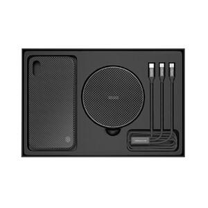 Купить Подарочный комплект Nillkin Fancy Black (чехол + беспроводная зарядка + кабель) для iPhone X/XS