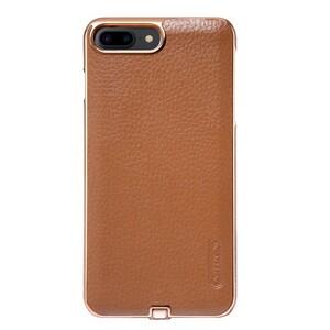 Купить Кожаный чехол с беспроводной зарядкой Nillkin N-JARL Brown для iPhone 7 Plus