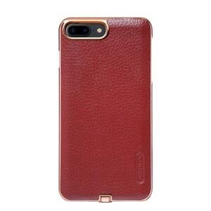 Купить Кожаный чехол с беспроводной зарядкой Nillkin N-JARL Red для iPhone 7 Plus