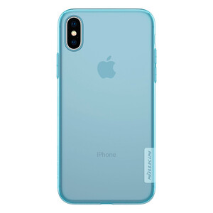Купить TPU чехол Nillkin Nature Series Blue для iPhone X/XS