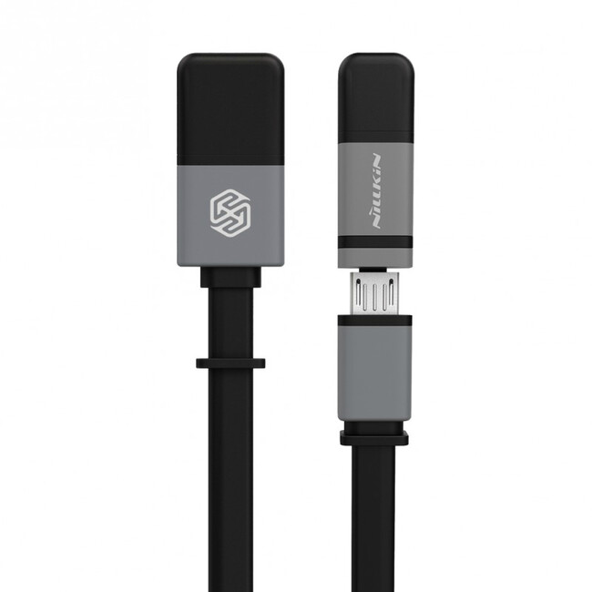 Кабель Nillkin Plus II Micro-USB + Lightning to USB Black
