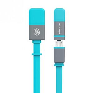 Купить Кабель Nillkin Plus II Micro-USB + Lightning to USB Blue
