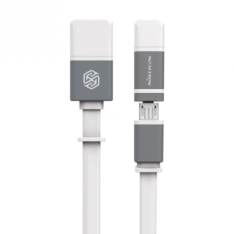 Кабель Nillkin Plus II Micro-USB + Lightning to USB White