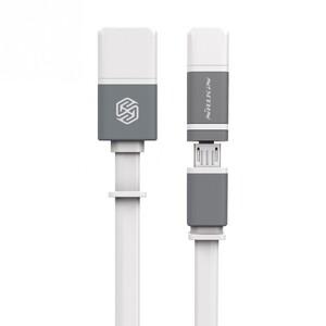 Купить Кабель Nillkin Plus II Micro-USB + Lightning to USB White