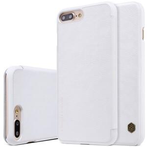 Купить Кожаный чехол-книжка Nillkin Qin White для iPhone 7 Plus