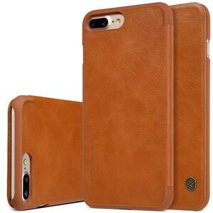 Купить Кожаный чехол-книжка Nillkin Qin Brown для iPhone 7 Plus