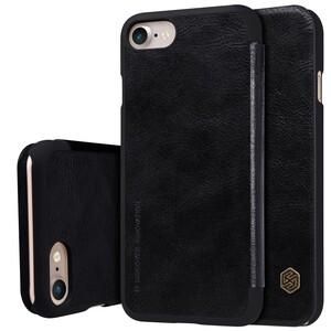 Купить Кожаный чехол-книжка Nillkin Qin Black для iPhone 7 | 8 | SE 2020