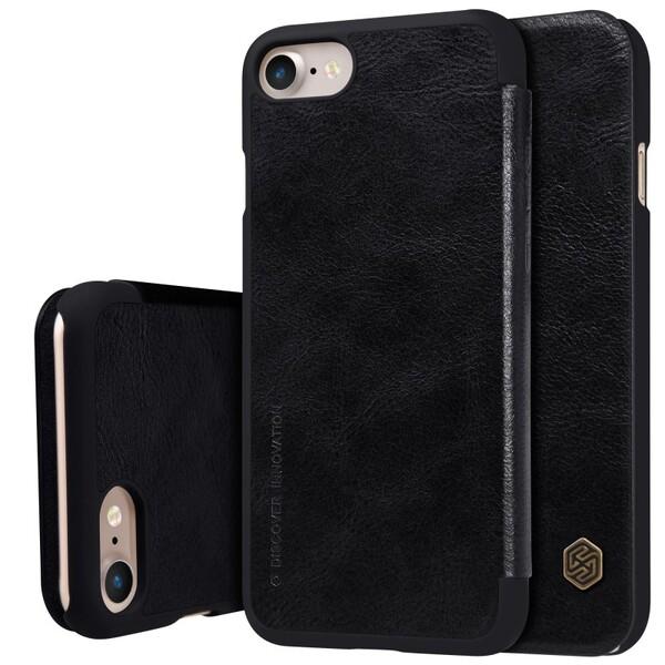 Кожаный чехол-книжка Nillkin Qin Black для iPhone 7 | 8 | SE 2020