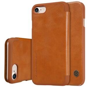 Купить Кожаный чехол-книжка Nillkin Qin Brown для iPhone 7