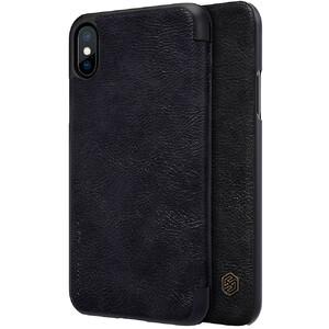 Купить Кожаный чехол-книжка Nillkin Qin Series Black для iPhone X/XS