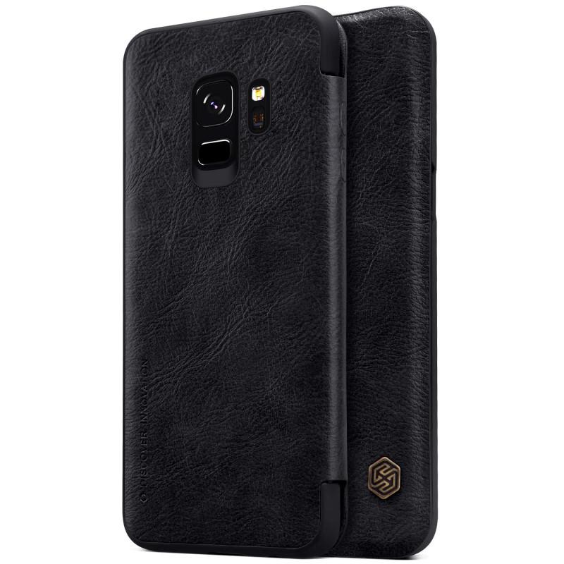 Купить Кожаный чехол-книжка Nillkin Qin Series Black для Samsung Galaxy S9