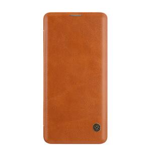 Купить Кожаный чехол-книжка Nillkin Qin Series Brown для Samsung Galaxy S10