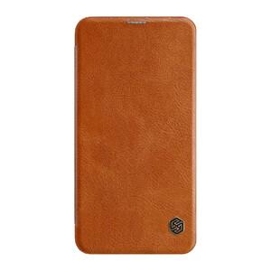 Купить Кожаный чехол-книжка Nillkin Qin Series Brown для Samsung Galaxy S10 Lite