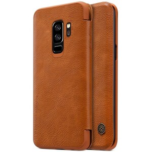 Купить Кожаный чехол-книжка Nillkin Qin Series Brown для Samsung Galaxy S9 Plus