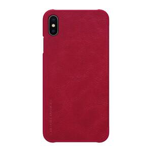 Купить Кожаный чехол-книжка Nillkin Qin Series Red для iPhone XS Max