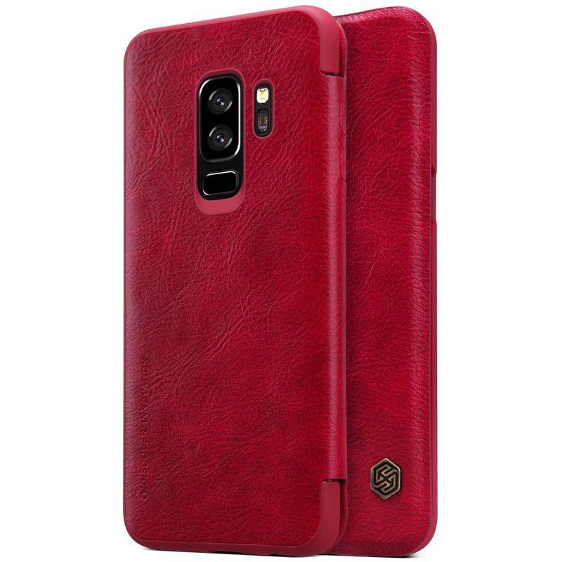 Купить Кожаный чехол-книжка Nillkin Qin Series Red для Samsung Galaxy S9 Plus