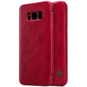 Купить Кожаный чехол-книжка Nillkin Qin Red для Samsung Galaxy S8 Plus