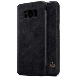 Купить Кожаный чехол-книжка Nillkin Qin Black для Samsung Galaxy S8 Plus