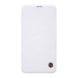 Купить Кожаный чехол-книжка Nillkin Qin Series White для Samsung Galaxy S10 Lite