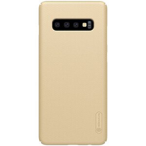 Купить Чехол Nillkin Super Frosted Shield Matte Gold для Samsung Galaxy S10 Plus
