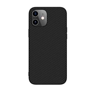 Купить Черный силиконовый чехол Nillkin Synthetic Fiber для iPhone 12 mini