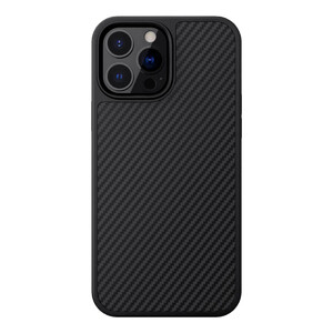 Черный карбоновый чехол Nillkin Synthetic Fiber Series для iPhone 13 Pro Max
