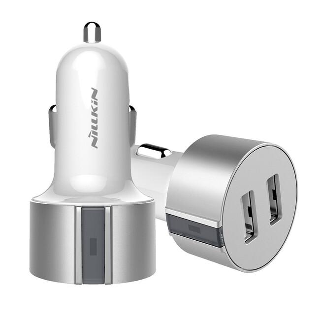 Автозарядка Nillkin Vigor Dual Port USB Silver