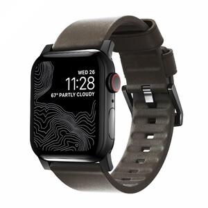 Купить Кожаный ремешок Nomad Active Strap Black Hardware Brown для Apple Watch 44/42mm Series 5/4