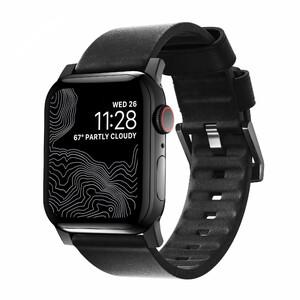 Купить Кожаный ремешок Nomad Active Strap Black Hardware Black для Apple Watch 44/42mm Series 5/4
