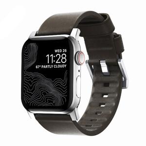 Купить Кожаный ремешок Nomad Active Strap Silver Hardware Brown для Apple Watch 44/42mm Series 5/4