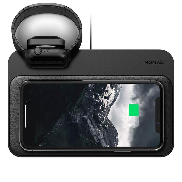 Беспроводное зарядное устройство Nomad Base Station Apple Watch Edition 3 в 1 Black + EU адаптер