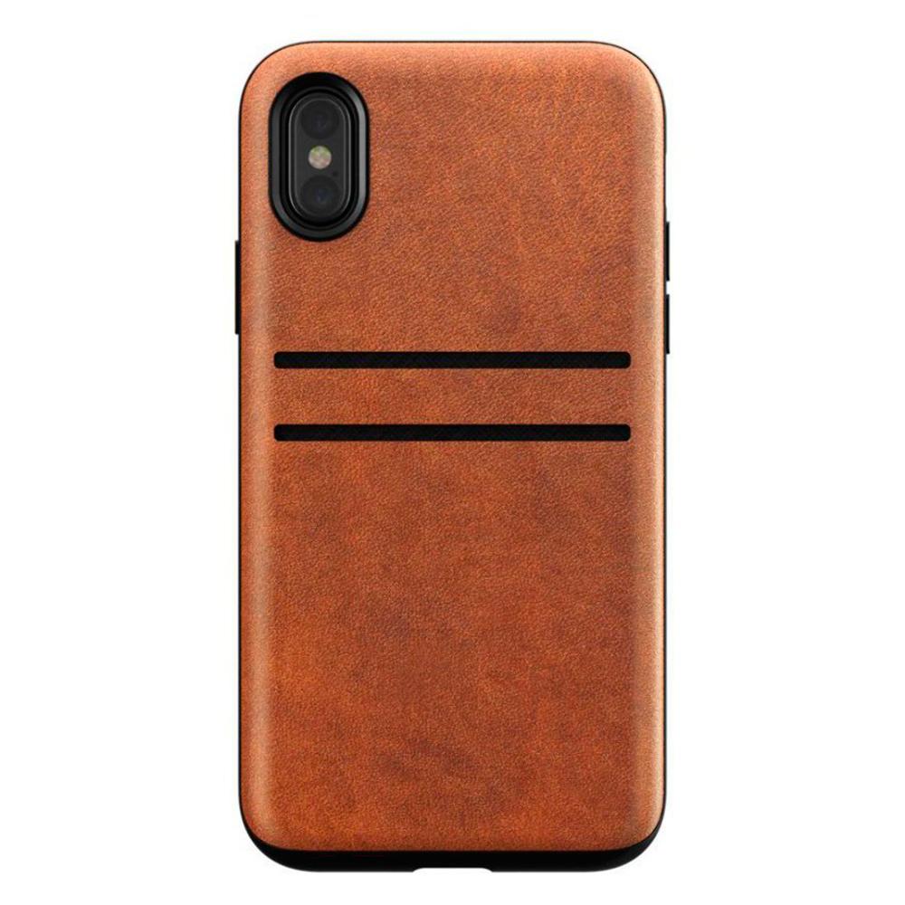 Купить Кожаный чехол Nomad Wallet Case Rustic Brown для iPhone X   XS