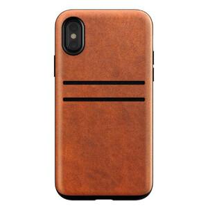 Купить Кожаный чехол Nomad Wallet Case Rustic Brown для iPhone X/XS