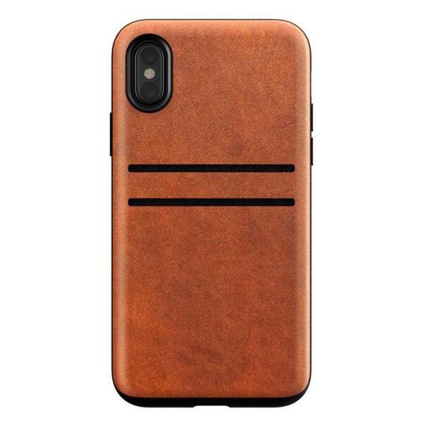 Кожаный чехол Nomad Wallet Case Rustic Brown для iPhone X   XS