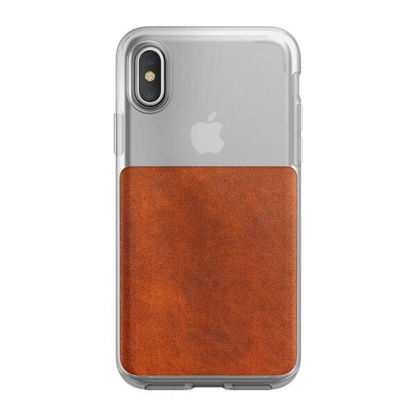 Защитный чехол Nomad Clear Case Rustic Brown для iPhone X | XS