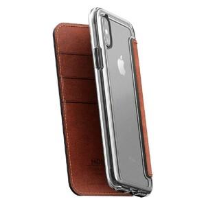 Купить Кожаный флип-чехол Nomad Clear Folio Rustic Brown для iPhone X/XS