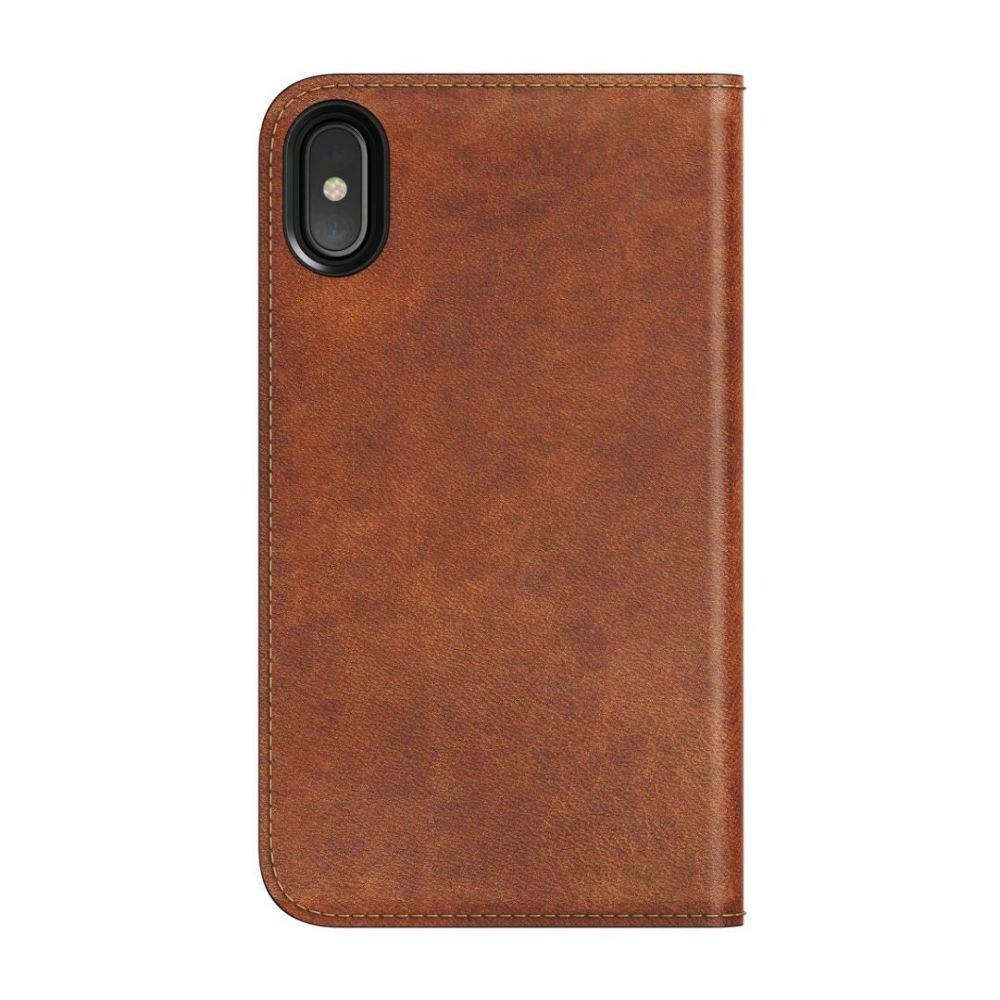 Купить Кожаный чехол-книжка Nomad Leather Folio Rustic Brown для iPhone X   XS