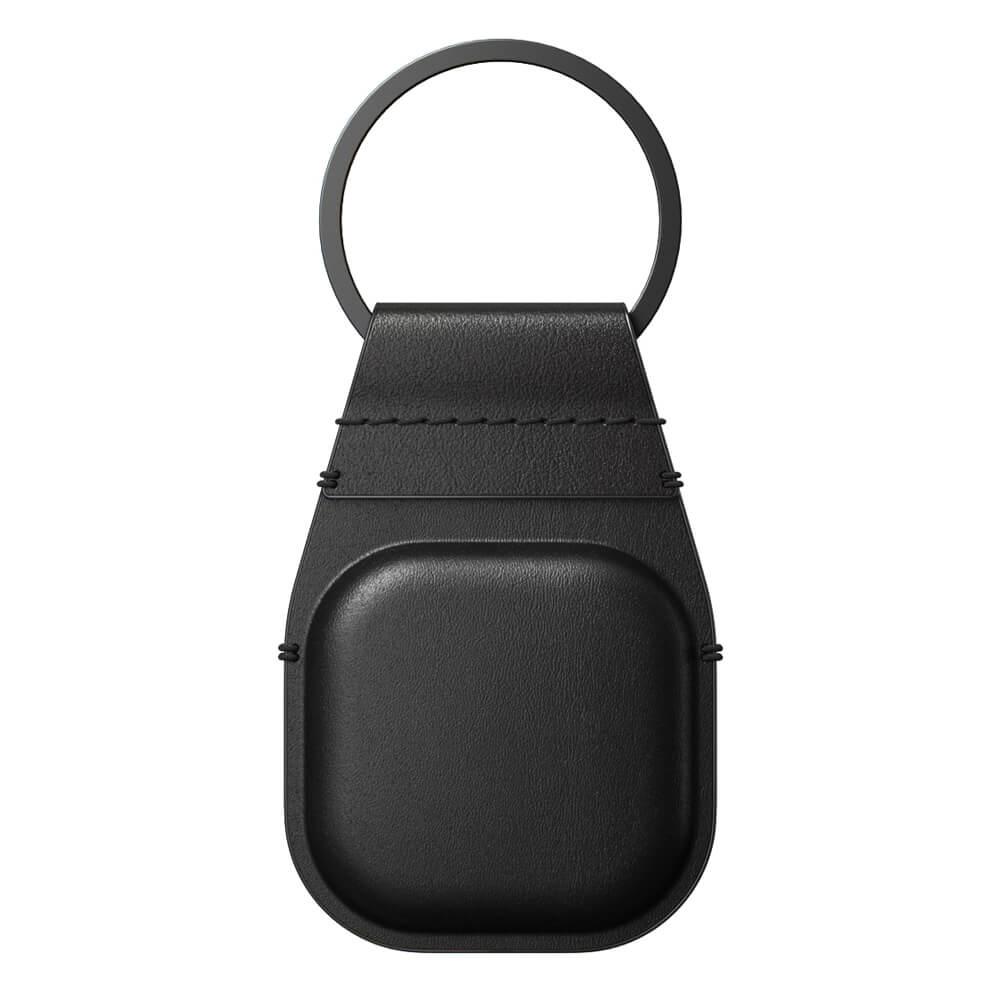 Купить Кожаный брелок с кольцом Nomad Leather Keychain Black для AirTag