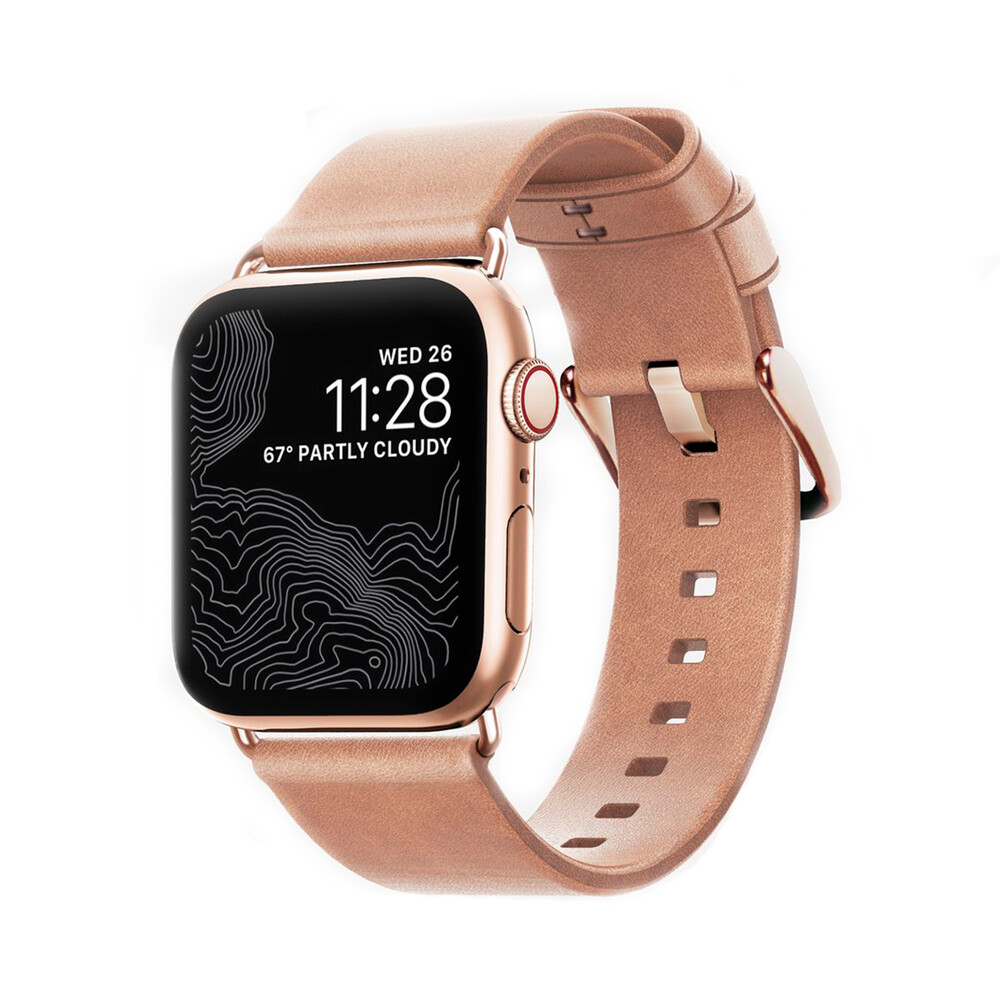 Купить Кожаный ремешок Nomad Modern Strap (Gold Hardware) для Apple Watch 40mm   38mm SE   6   5   4   3   2   1